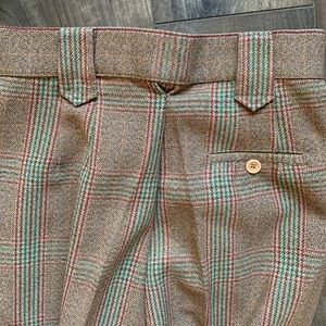 "VTG Vintage Plaid 70's trouser pants 24"" waist"